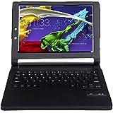 【IVSO®】オリジナルLenovo Yoga Tablet 2 8-inch ケース, LENOVO YOGA TABLET 2専用キーボードカバー 開閉で自動的 PUレザーケース マグネット着脱可能 一体型Bluetoothワイヤレスキーボード (ブラック)