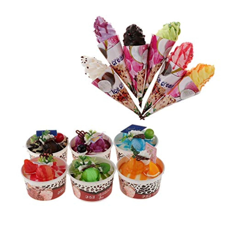 KESOTO ディスプレイ 模型 食品サンプル アイスクリーム 模型 デザート おままごと  保育所 店舗用 12個