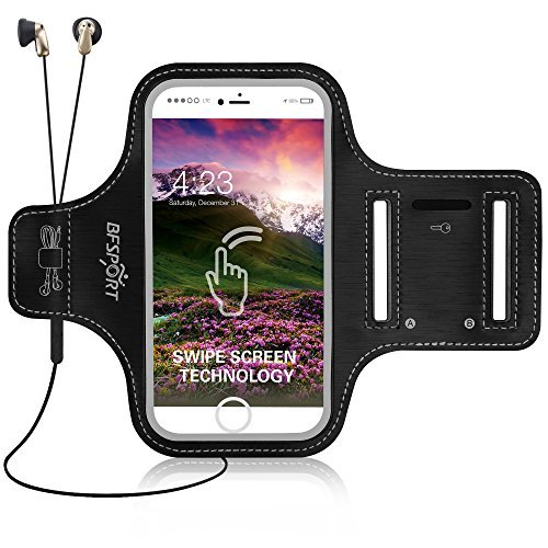 iPhone 7/ 7Plusアームバンド、bfsport防水スポーツランニングアームバンドwithキーホルダー、ケーブルロッカー、カードホルダー、指紋ロック解除タッチセンサーfor iPhone 6/ 6s / 7/ 7Plus Up To 5.5