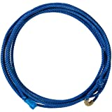 Weaver Leather 30-2400-BL Kid-Feets Waxed Nylon Rope, 5/16-Inch x 20-Feet, Blue
