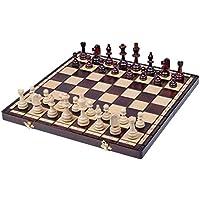Burned Folding欧州国際チェスセット木製london-beautifulデザイン、挿入トレイ – ギフトアイテム