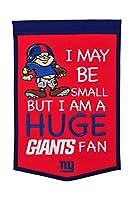 NFLニューヨークジャイアンツ小さなファンbannernflニューヨーク・ジャイアンツ小さなファンバナー、レッド、伝統