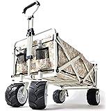 タンスのゲン キャリーワゴン ワンタッチ折り畳み式 幅広大型タイヤ * Raxus OFF ROAD * 89L 同色カバー付き 自立スタンド 45600000
