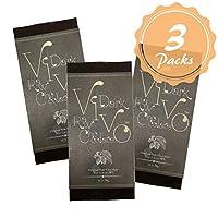 ダーク 3枚セット ローチョコレート『Vivo』砂糖・乳製品は一切不使用 酵素が生きた生チョコレート