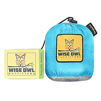 Wise Owl Outfitters Hammock for Camping - Portable, Lightweight Gear for The Outdoors, Backpacking, Survival Or Travel - Parachute Nylon