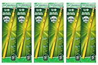 Dixon Ticonderoga 木製 - HB 鉛筆 2個セット 96本 イエロー 3 Pack