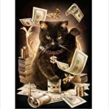 gymtop-direct 刺繍の描画 クロスステッチ ドリル 自宅の暇つぶし 発散的思考を養う 集中力を高める 装飾壁画 オルタナティブアート 10つの刺繍図案 簡単入門の芸術 創造力を培う ホームデコレーション 素敵な飾り (猫)