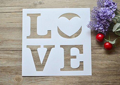 Loveレイヤリングステンシル用DIYスクラップブッキング/フォトアルバム装飾エンボスDIY紙カードCrafts