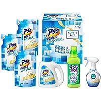 【洗剤ギフト】アタック 抗菌EX スーパークリアジェル 本体 (1本) つめかえ用 (3袋) ワイドハイターEX 本体 (1本) リセッシュ 本体 (1本) バラエティーギフト