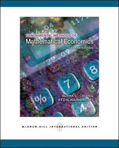 Fundamental Methods of Mathematical Economics.の詳細を見る
