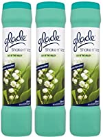 3 x Glade Shake 'n' Vac Lily Of The Valley Carpet Cleaning Powder 500gm by Glade