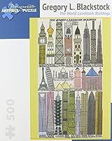 Gregory Blackstock - the World Landmark Buildings: 500 Piece Puzzle (Pomegranate Artpiece Puzzle)