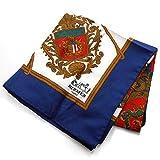 (エルメス) HERMES 紋章柄 シルク スカーフ 紺赤白 レディース ブルー×レッド×ホワイト 88cm (中古)
