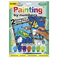 Royal Brush My First Paint By Number Kit 8.75 by 11.375-Inch-Sea Turtle and Fish, 2/pkg