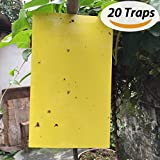 BESKIT 20パック害虫捕獲粘着紙 両面イエローシート ブヨ/コナジラミ/アブラムシほかの飛翔類昆虫に対応
