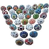 Set of 20 Mix Vintage Handmade Ceramic Pumpkin Knobs Cabinet Drawer Handles Pulls