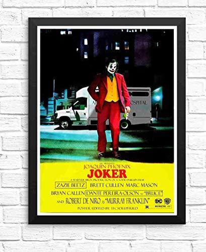 ぶら下げ絵画-映画ジョーカー2019年ホアキンフェニックスTDポスター - サイズ:33x43cm(額縁を送る)