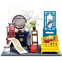 CUTICATE DIY ドール ハウス 手作りキット 中華風 建物 ルーム 初心者 1/12スケール おもちゃ 全5種 - B