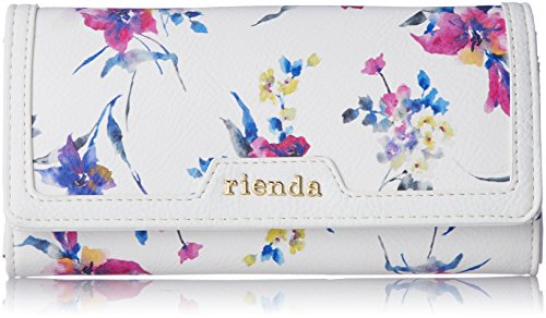 [リエンダ] FLAME FLAP LONG WALLET BLUR FLOWER PT r03708204