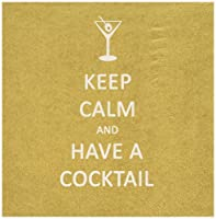 Paperproducts Design 20-Pack Keep Calm Cocktail Paper Cocktail Napkins 【Creative Arts】 [並行輸入品]