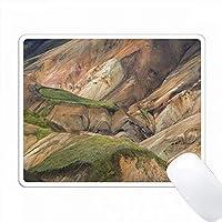 Landmannalaugar、Icelandによる山脈の風景 PC Mouse Pad パソコン マウスパッド