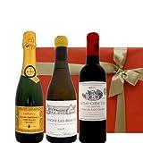ボルドー赤ワイン ブルゴーニュ白ワイン スパークリング 375ml×3本 ハーフボトル ワインのギフトセット