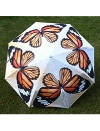 オレンジStunning仏塔デザイン防風雨傘6色UV保護Parasol