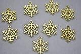 【 ビーズクラブ 】 アクセサリーパーツ チャーム 雪の結晶 金 16.5mm 10個セット