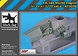 ブラックドッグ 1/72 EH-101 マーリン用エンジン (レベル用) プラモデル用パーツ HAUA72076