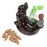 陶器 香炉 セラミックフィッシュ逆流香炉 お香 多機能 インテリア ギフト (2)