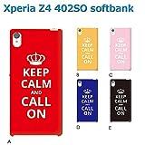 Xperia Z4 402SO (個性派07) D [C016603_04] Keep Calm 格言 イギリス CALL ON エクスペリア スマホ ケース softbank