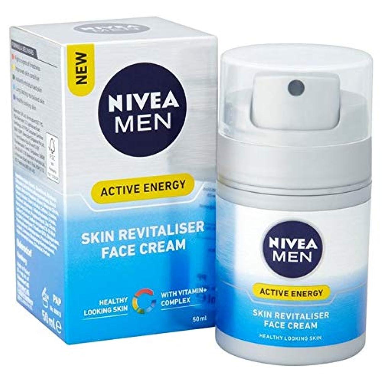 枯渇する連続した優しい[Nivea ] ニベアの男性活性エネルギー皮膚Revitaliserフェイスクリーム50Ml - Nivea Men Active Energy Skin Revitaliser Face Cream 50ml [並行輸入品]