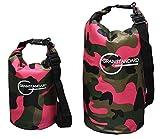 GRANSTANDARD(グランスタンダード)防水バッグ・ドライバッグ・5色迷彩柄5L (ピンク, 15L)