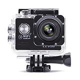 LEVIN 防水 スポーツカメラ 1080P フルHD 1200万画素 デュアルバッテリー配置 170度広角レンズ ドライブレコーダー機能 (ブラック)