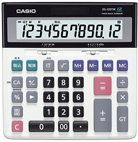カシオ スタンダード電卓 税計算・加算器方式 デスクタイプ 12桁 DS-120TW