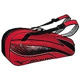 MIZUNO(ミズノ) テニスバッグ ラケットバッグ 硬式・ソフトテニス/バドミントン 6本入れ 63JD6003 62 レッド