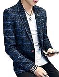 (ニカ)メンズ スーツ ラシャジャケット ショートジャケット 秋 スーツ オシャレ カジュアル 薄手 メンズ ラシャコット 秋 冬 春 ビジネス ジャケットネイビーT3