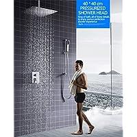 どのように--シャワー @バスタブ&シャワーシステムHM-840004、加圧シャワー、空気注入、多層メッキプロセス、雨モード、大流量の水、トップスプレーサイズ:400 * 400 * 2mm