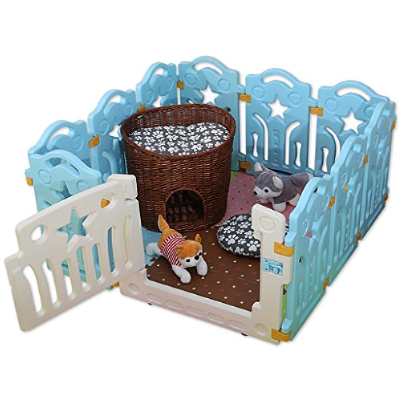 プラスチック製のペットは、ドア10パネル、赤ちゃん猫の犬のバリアハウス屋内屋外ホーム
