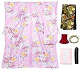 [キョウエツ] 着物セット 振袖 ロマン 洗える 花柄 6点セット(振袖着物、袋帯、帯揚げ、帯締め、伊達衿、襦袢)