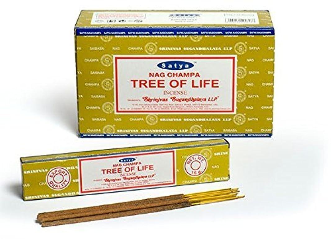 ここにアジテーション愚かBuycrafty Satya Nag Champa Tree of Life Incense Sticks 180 Grams Box (15g x 12 Boxes)