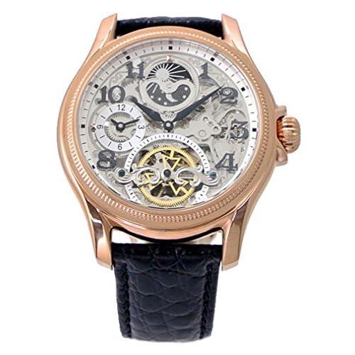 【アルカフトゥーラ 】ARCA FUTURA 腕時計 機械式(自動巻き) メンズ・牛革ベルト(ブラック)23145NNSKRGBK【国内正規品】