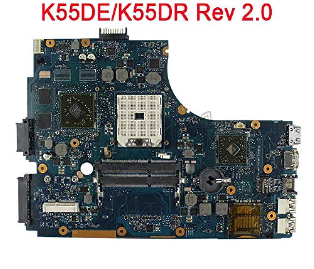 ワット転倒メルボルンFidgetFidget Asus K55DR K55DE マザーボード メインボード Rev 2.0 HD 6470M 非統合