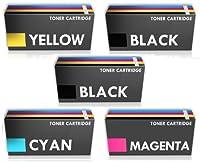 プレステージカートリッジキットCE410X-CE413Aシリーズと互換性のある5トナー、高収量、1セットと1ブラック、マルチカラー