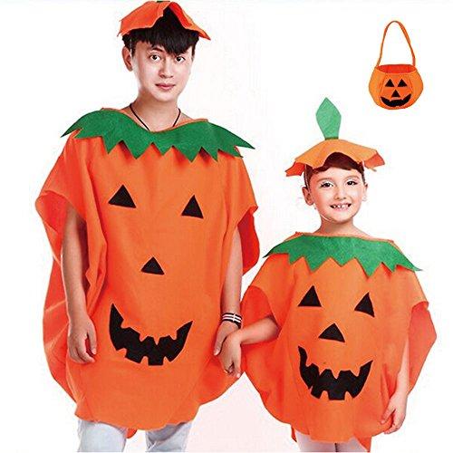 Melissa ハロウィン 親子 でお揃い かぼちゃ 衣装 パンプキン コスチューム コスプレ 仮装 帽子 付 (子供用)
