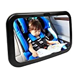 VICIVIYA ベビーミラー 車用補助ミラー 広角凸面鏡 アクリル樹脂素材 360度方向調節 ガラス飛散防止 子供の安全を見守る メイク直し用