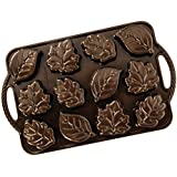 Nordic Ware 92348 Leaflettes Cakelet Pan Bronze, 2.5 Cup Capacity