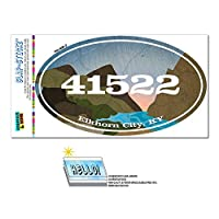 41522 エルクホーンシティ, KY - 川岩 - 楕円形郵便番号ステッカー