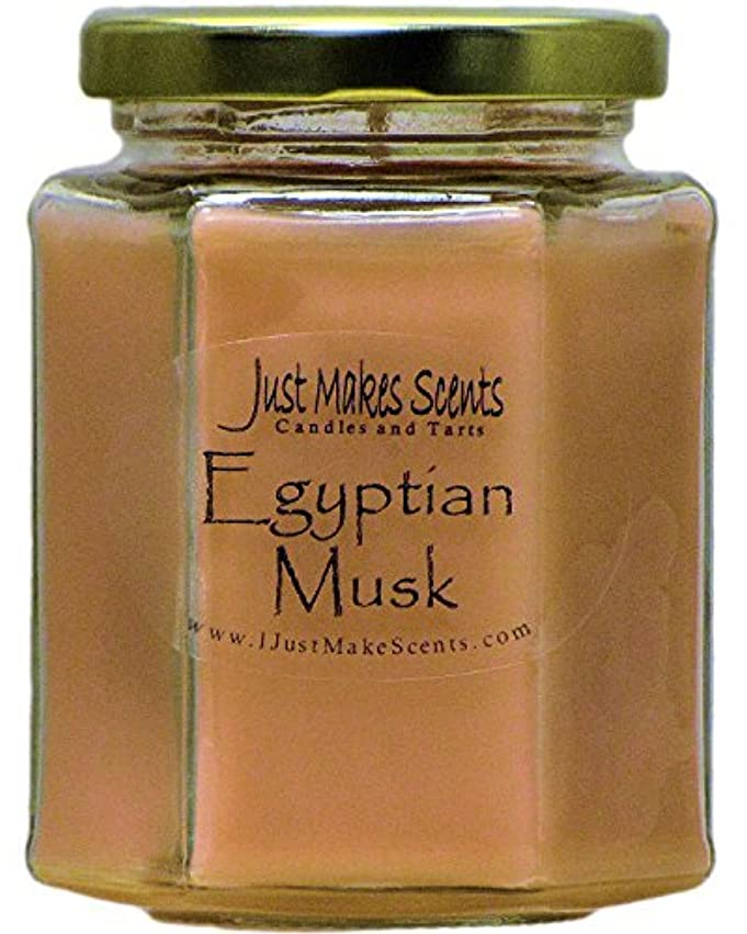 普通のネコ洞察力Egyptian Musk Scented Blended Soy Candles by Just Makes Scents (8 oz) … [並行輸入品]