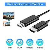 2.4G/5G ワイヤレスディスプレイアダプタ 1080P HD高画質 USB to HDMI 変換アダプター 1080P HD高画質 ディスプレイドングル Compatible/Mac OS/iOS/Android/Windows等対応 (ブラック03)